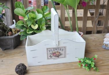 白色木提盒