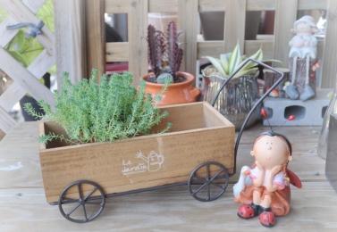 鐵製木板小拖車