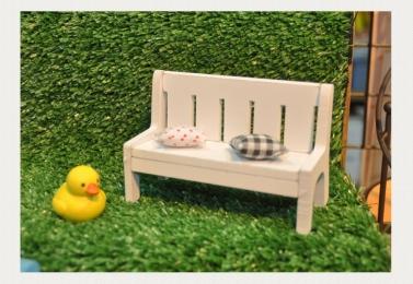 手工木製沙發長椅擺飾