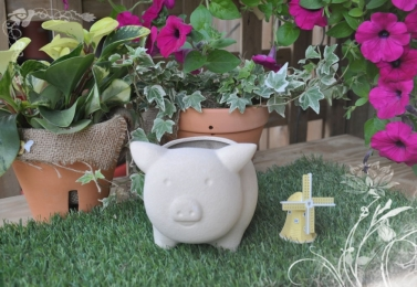 小豬造型花盆