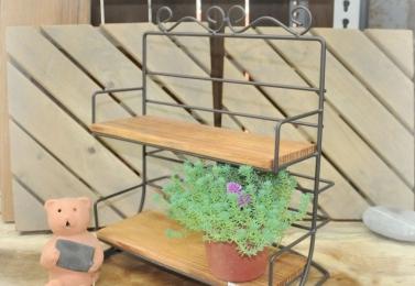 鐵製木板雙層小架