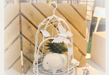 樹葉鐵製小鳥籠 (3種尺寸)