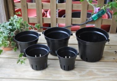 蘭花栽培專用  黑吊盆