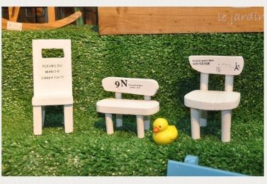 手工木製造型小椅擺飾