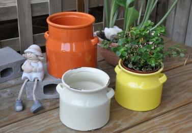 彩釉牛奶壺 (2個尺寸)
