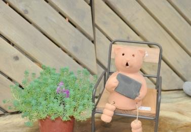 鐵製木板單人椅