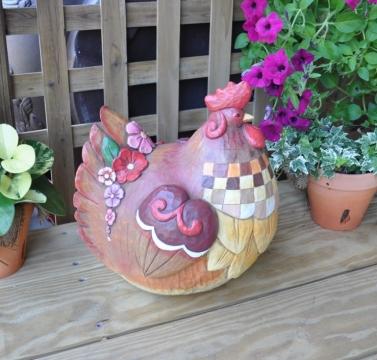彩繪大公雞造型擺飾