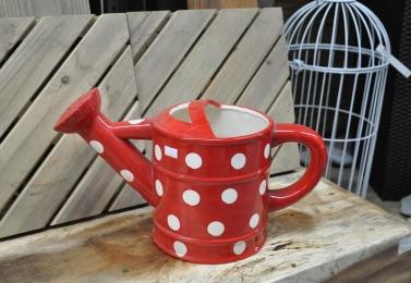 紅色水壺型花器