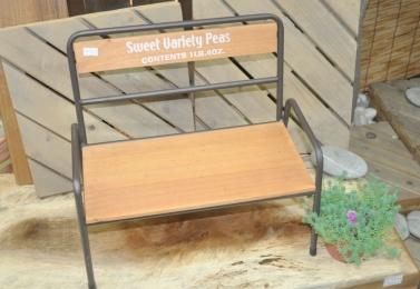 鐵製木板大長椅