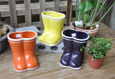 彩色雨鞋盆