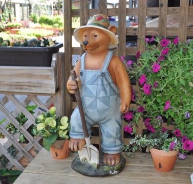 農夫熊造型擺飾