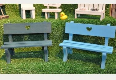 手工木製小公園椅擺飾