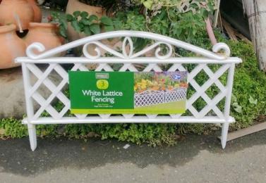 斜格塑膠籬笆