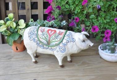 彩繪豬造型擺飾