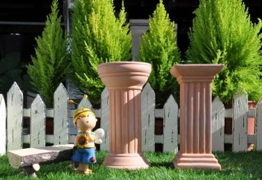 羅馬柱造型素燒擺飾