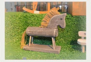 手工木製小木馬擺飾