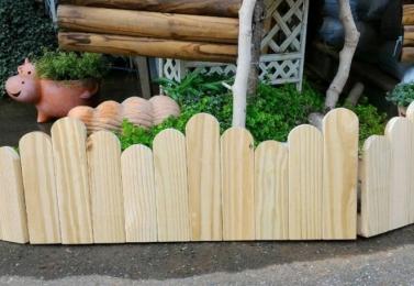圓頭南方松ㄇ字形圍籬  W28946